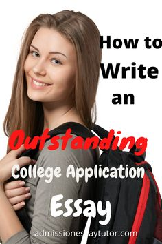 It's not enough to write a just OK college essay, particularly if you're aiming towards a competitive school. Instead you need to write an impressive essay to help you stand out from the crowd. Here you will find a step-by-step workshop tutorial to teach you how to write an outstanding college admissions essay. #CollegeApplicationEssay #CollegeEssayExamples #HowtoStartaCollegeEssay College Essay Examples, College Application Essay, High School Transcript, High School Curriculum, High School Writing Prompts, High School Schedule, High School Organization, College Admission Essay, College Planning