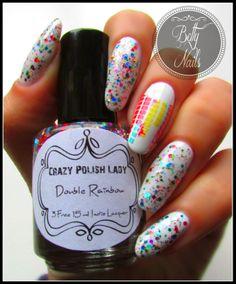 Betty Nails: Crazy Polish Lady - Double Rainbow & Kinetics Just Married Nice Nails, Gorgeous Nails, Fun Nails, Nail Polish Art, Nail Art, Hello Ladies, Holiday Nails, Just Married, You Nailed It