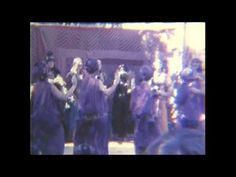 Jamila Salimpour's Bal Anat Dance Troupe at the Northern Renaissance Fair in September, 1975. Earth Mother, John Compton, Aida, and others. The Super 8 film is silent, it's not your device. Did not have a sound camera back then. Yet another version of this show, but always nice to see these dancers!   Suhaila Salimpour gave me verbal permission to post this on Sept. 8, 2013.   identified at present are:  #1 John Compton #2 Katrina Bourda (Mother Goddess)  #4 Samira (Snake)  #5 Samira in