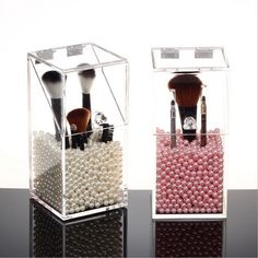New Acrylic Cosmetic Makeup Brush Organizer Display Stand Case #Unbranded