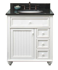 "New Cottage Retreat 30"" Vanity 1 Door/2 Drawers - RTA Cabinet Store"