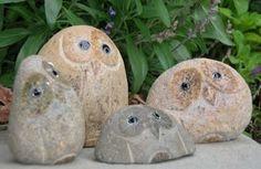 "Amazon.com: Large Boulder Stone Owl, 6"": Home & Kitchen"