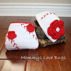Baseball Baby Crochet Diaper Cover - Boy or a Girl Newborn through 12 Months