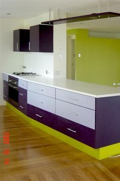 Love This Dark Purple For The Kitchen Not So Much Green Dream Home Inspiration Pinterest Kitchens And Colors