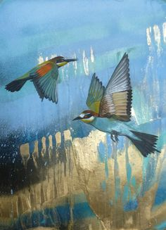 Bee Eaters, Giclée print (from a painting) by Tom Rawles   Artfinder