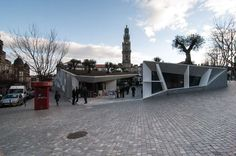 The proposed solution is based on the principle that the square/public space should adopt an open shape to the city drawn for pedestrians, losing the interio...