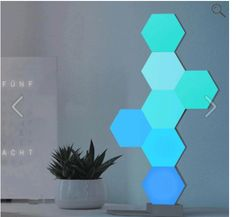 Buy Lifesmart 3 Pcs DIY Quantum Lights Creative Geometry Assembly LED Night Light Decor Lamp Smart Control For Xiaomi Smart Speaker at Wish - Shopping Made Fun Nanoleaf Designs, Chandeliers, Home Panel, Smart Lights, Smartphone, Geometric Decor, Luz Led, Led Night Light, Night Lights