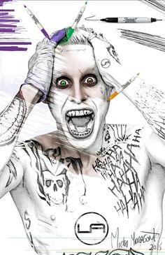 #sharpie #Joker #Batman #Colors #Trucho #noctambulo #picture #wacom  #bamboo #Concept #effect #psdcs6 #sketch  #drawing  by #lapartners
