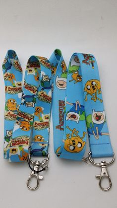 Adventure Time Lanyard Key Chain ID Badge Holder by MammothSales