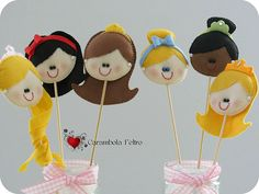 Princesses heads for either maybe gift tags, ornaments, or pencil toppers...too cute