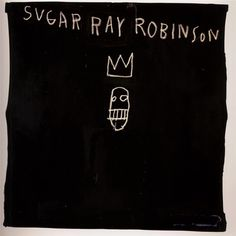 Sugar Ray Robinson Artist: Jean-Michel Basquiat Completion Date: 1982 Style: Neo-Expressionism Sugar Ray Robinson, Jean Basquiat, Jean Michel Basquiat Art, Crayon Canvas, Basquiat Paintings, Palais Galliera, Art Du Monde, Painted Boxes, Pictures To Paint