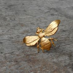 Antique Bee Pin Brooch Insect by pinguim on Etsy