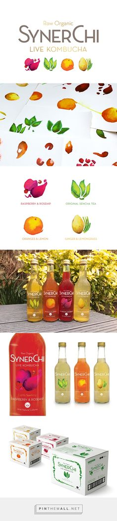 SynerChi Kombucha designed by Halley Ann Kennedy. Pin curated by #SFields99 #packaging #design