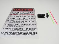 Proctor Square Notch Pistol Sight Set for Small Frame Glock Pistols - Way of the Gun