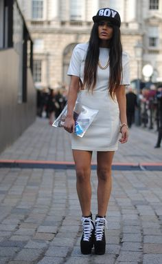 She's taken laidback, casual, street and made it runway worthy. Kudos. #fashion #street