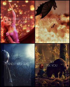 Found this... Awesome :) ~Rise of the Brave Tangled Dragons~ and you can't go wrong without adding a little Coldplay