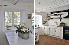 Swedish Farmhouse-clean black, white and grey scheme w rustic charm