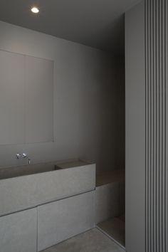 grey minimalist bathroom by Annemarie van Riet