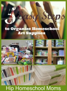 How to Organize Homeschool Art Supplies in 5 East Steps