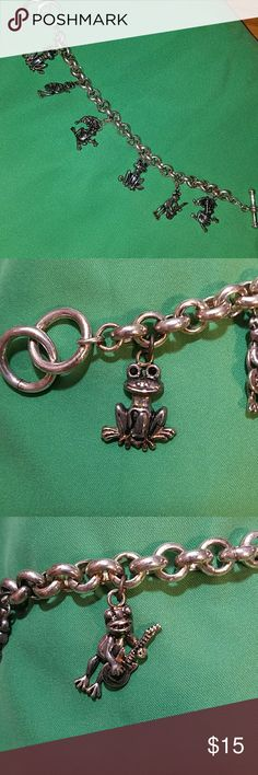 Bracelet with frog charms This is a cute and quirky frog bracelet! Zoom in on pics for frogs! Jewelry Bracelets