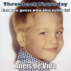 #ThrowbackThursday can you guess who this Celeb is?  We'll give you CLUES at 10am and 1pm and post his all grown up pic at about 3pm. So be sure to check back with us.  Remember that you can follow us on /AneisDeVida on twitter and facebook or look up our company profile on Linked In All Grown Up, Company Profile, Throwback Thursday, Celebs, Celebrities, Looking Up, Facebook, Twitter, Check