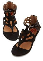 What's the Loop? Sandal in Black | Mod Retro Vintage Sandals | ModCloth.com size 6.5