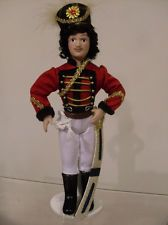 "Porcelain doll  male Russian hussar 8.5""  SUPER!!!!!"
