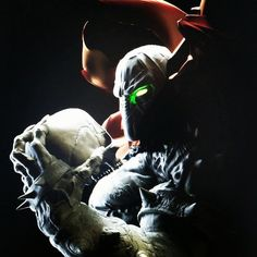 Work in progress renders of my take on Spawn one of my favorite comic book characters.