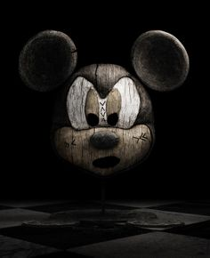 Digitally Made Wooden Movie and Game Character Sculptures-What would Mickey smell like?