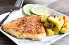 Panko and Parmesan-Crusted Swai - This recipe comes together quickly and is delicious. Substitute Panko with corn starch Swai Recipes, Fish Recipes, Seafood Recipes, Chicken Recipes, Cooking Recipes, Dinner Recipes, Gout Recipes, Cooking Stuff, Entree Recipes