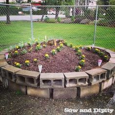 Combine a compost and garden bed into one with this small space garden method, the Keyhole Garden Bed.