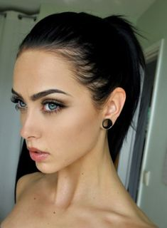 Face of the day: Johanna F. Herrstedt She has stretched ears & a vertical labret. Eyeliner tattoo idea