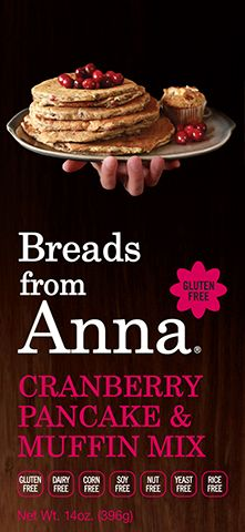 Breads From Anna - Cranberry Pancake & Muffin Mix. Gluten-Free. Dairy-Free. Corn-Free. Soy-Free. Nut-Free. Yeast-Free. Rice-Free. GMO-Free.
