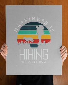 Happiness is hiking with my Dog Gifts Hike Climbing Dog Love - Ash hiking birthday party, womens hiking outfits, hiking gear clothes #StopWastingWeekends #HikingGifts #BirthdayGift, dried orange slices, yule decorations, scandinavian christmas Hiking Dogs, Hiking Gear, Hiking Gifts, Rottweiler Puppies, Yule Decorations, Love Shirt, Scandinavian Christmas, Dog Gifts, Dog Love
