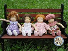 Waldorf inspired tiny (7-8 inch) cloth dolls made by Lalinda.pl