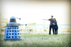 Okay guys, you all saw me get proposed to by the Doctor in front of the TARDIS on the beach, so here is one of our engagement shoots! We tried to do a force perspective and we got this. <3 -Cydney