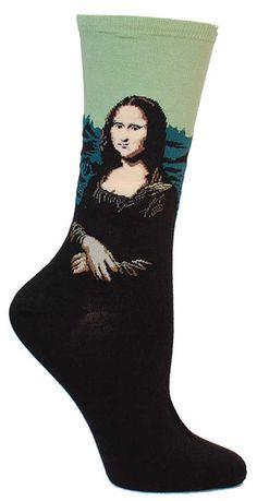 http://sockdrawer.com/collections/art-socks/products/mona-lisa-socks Mona Lisa : More Pins Like This At : FOSTERGINGER @ Pinterest.