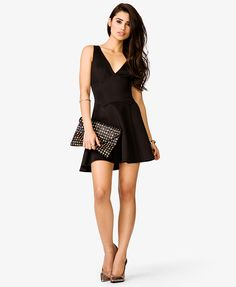 Scuba Knit Flare Dress | FOREVER21