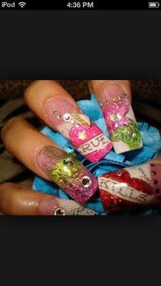 Crazy Acrylic Nail Designs For Glamoor Women, crazy nails designs acrylics with crazy nail art ~ Cool Nail Art Ideas Crazy Acrylic Nails, Crazy Nail Art, Crazy Nails, 3d Nail Art, Cool Nail Art, Get Nails, Love Nails, How To Do Nails, Really Long Nails