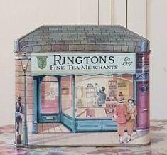 Collectable Vintage Ringtons Tea Merchants Decorated Tin Caddy Algernon Road | eBay Vintage Tea, Vintage Decor, Box Houses, Tea Tins, Tea Box, Tea Caddy, Toy Chest, Ebay, Crates