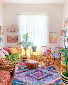 You can execute literally all blue rug living room design ideas that come to your mind, as the spectrum of available and inexpensive rugs comes in all shapes, sizes, proportions, and colors. Bohemian Living, Boho Living Room, Living Room Interior, Living Room Furniture, Living Room Decor, Living Rooms, Bohemian Homes, Bohemian Gypsy, Cozy Living