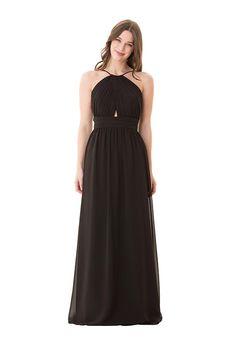 Chiffon dress with a-line silhouette and halter neckline I Style: 1678 I  Bari Jay Bridesmaids i https://www.theknot.com/fashion/1678-bari-jay-bridesmaids-bridesmaid-dress?utm_source=pinterest.com&utm_medium=social&utm_content=aug2016&utm_campaign=beauty-fashion&utm_simplereach=?sr_share=pinterest