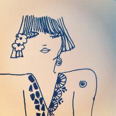 Celia Birtwell face illustration