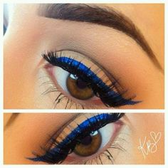 Blue wing with silver instead of gold on the eyelid