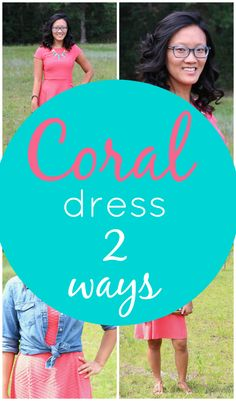 Coral Dress Two Ways + The Perfect Pair of Glasses with @JCPenneyOptical savings #JCPoptical #sponsored