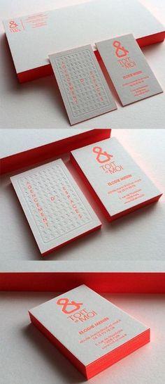 tarjetas de presentacion verticales creativas