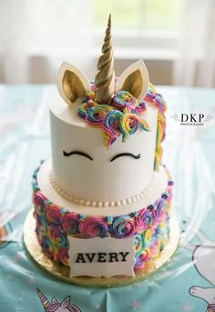 10 Gorgeous Unicorn Birthday Cakes – Chef Jonas and foodanddrinks 2019 Bday Girl, Birthday Cake Girls, Unicorn Birthday Parties, Unicorn Party, Unicorn Cakes, 5th Birthday, Birthday Ideas, Rainbow Unicorn, Birthday Cake Designs