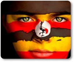 Portrait of a boy with the flag of Uganda painted on his face. Flags Of The World, We Are The World, Flag Painting, Body Painting, Earth Flag, Uganda Flag, Bad Art, Flag Face, Best Artist