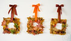 Fall leaf wreath #kidscrafts #crafts #autumn