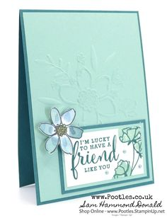 #1 Stampin' Up! Demonstrator Pootles - Love What You Do & Lovely Floral Embossing Folder